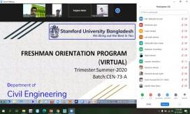 Virtual Freshman Orientation Program, Dept of CEN, 12-08-2020